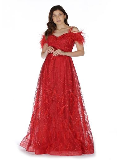 Pierre Cardin Payet Uzun Abiye Elbise Kırmızı